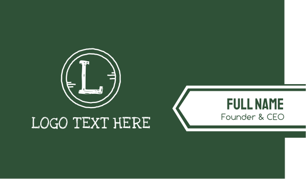 elementary - Chalk Board Letter Business card horizontal design