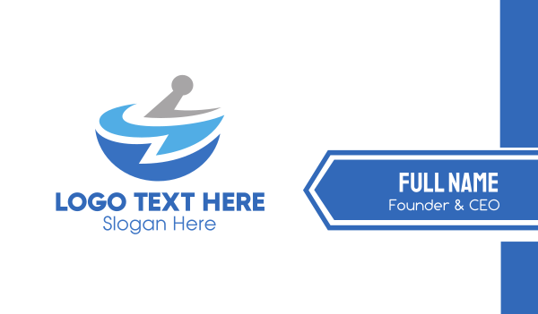 financial coach - Blue Pharmacy Business card horizontal design