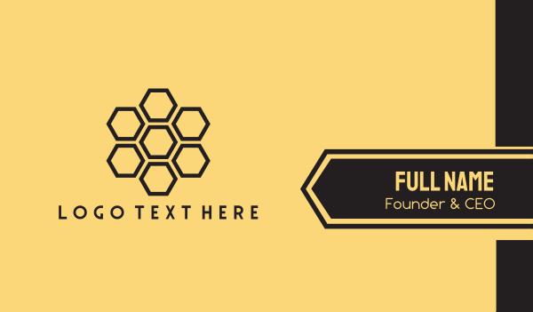 beehive - Generic Honeycomb Business Company Business card horizontal design