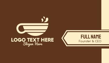 Colorful Coffee Mug Business Card