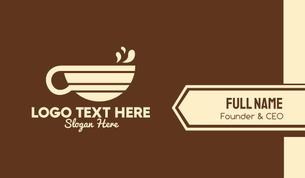 sweetener - Colorful Coffee Mug Business card horizontal design