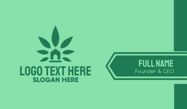 Cannabis Weed Marijuana Dispensary Business Card