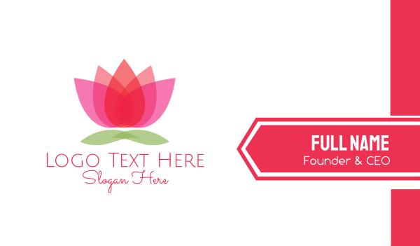 aesthetic - Gradient Flower Business card horizontal design