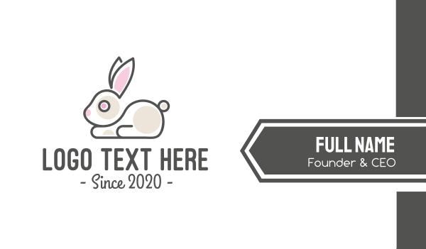 rodent - Cute Bunny Pet Shop Business card horizontal design
