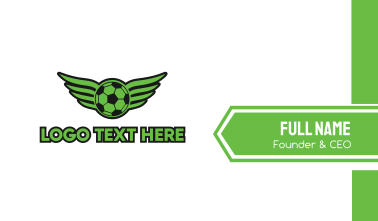 Soccer Wing Business Card