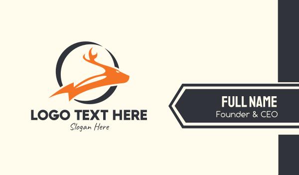 reindeer - Thunderbolt Deer Business card horizontal design