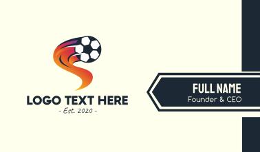 Soccer Sports League Business Card