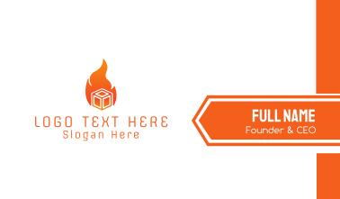 Orange Fire Box Business Card