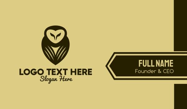 wisdom - Brown Owl Aviary Business card horizontal design