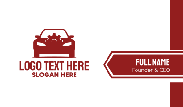 Red Car Gear  Business Card