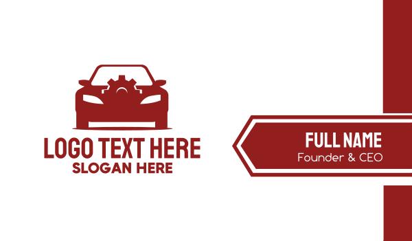 repairman - Red Car Gear  Business card horizontal design