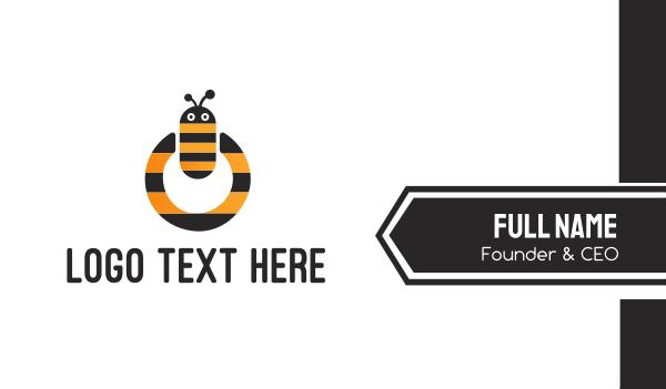 power button - Bee Power Business card horizontal design