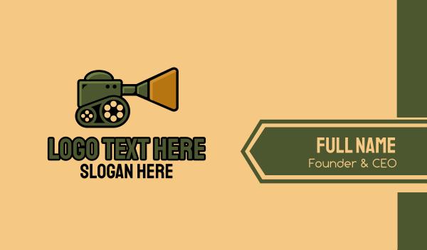 production - Media War Tank Business card horizontal design
