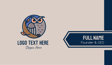 Night Owl Bird Business Card