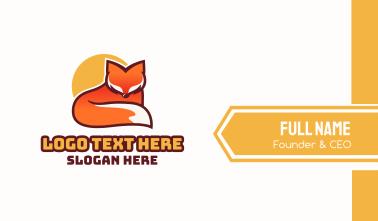 Fox Sun Mascot Business Card