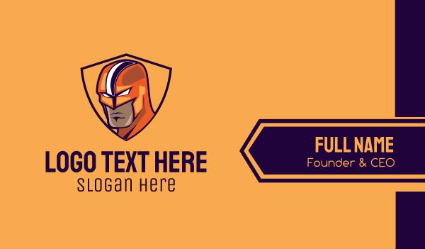comic book - Superhero Mask Hero Business card horizontal design
