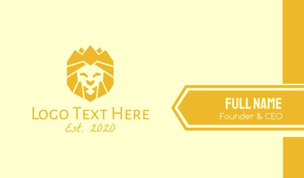 safari park - Golden Wild Lion Business card horizontal design