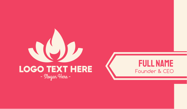 scent - Pink Fire Lotus Business card horizontal design