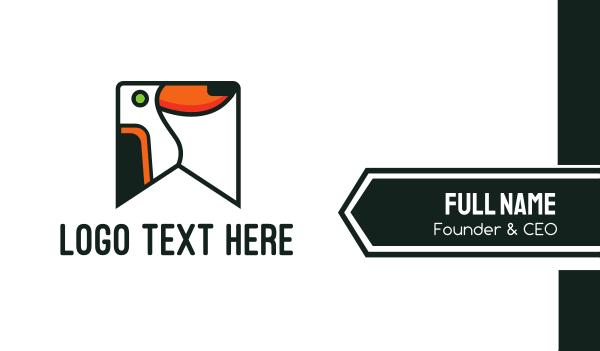 rainforest - Toucan Flag Business card horizontal design