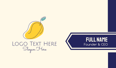 Simple Mango Business Card