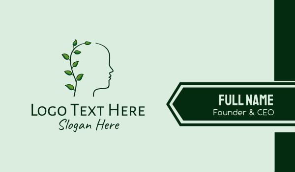 eco park - Nature Person Head Business card horizontal design