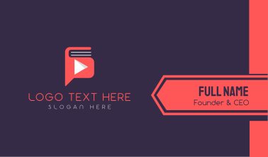 Youtube Audiobook Business Card