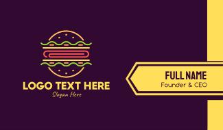 Neon Burger Business Card
