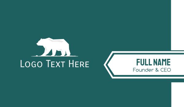 big - Big White Polar Bear Business card horizontal design