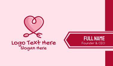 Romantic Heart Restaurant  Business Card