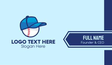 Baseball Sports Cap  Business Card