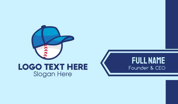 baseball - Baseball Sports Cap  Business card horizontal design