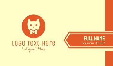 Orange Kitty Cat Business Card