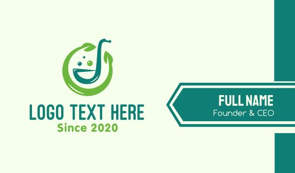 food service - Circle Organic Juice Business card horizontal design
