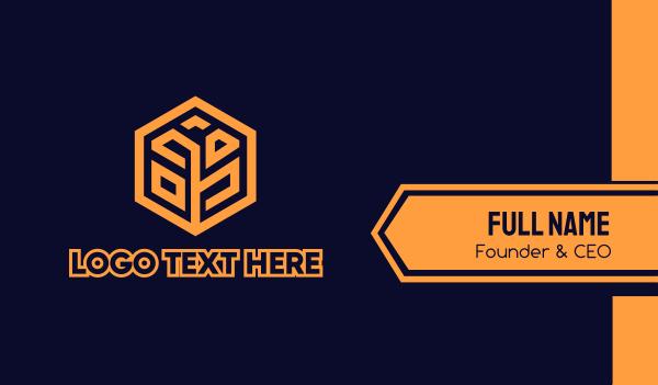 men accessories - Tech Startup Hexagon Grain Business card horizontal design