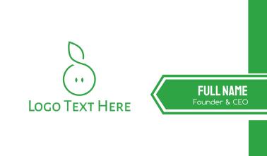 Green Leaf Circle  Business Card