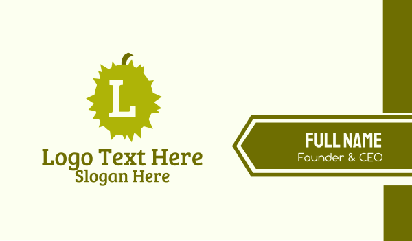 spiked - Spiky Durian Lettermark Business card horizontal design