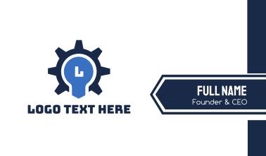 Gear Bulb Lettermark Business Card