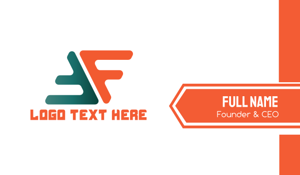 letter f - F & F Business card horizontal design