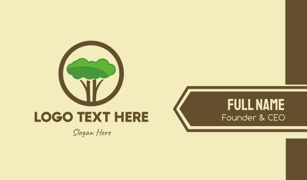 eco park - Round Tree Cloud Safari Business card horizontal design