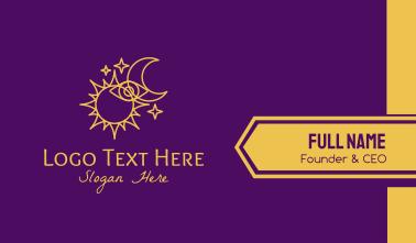 Star Sign Fortune Teller Eye  Business Card