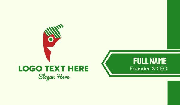 mexico - Chili Pepper Mascot Business card horizontal design
