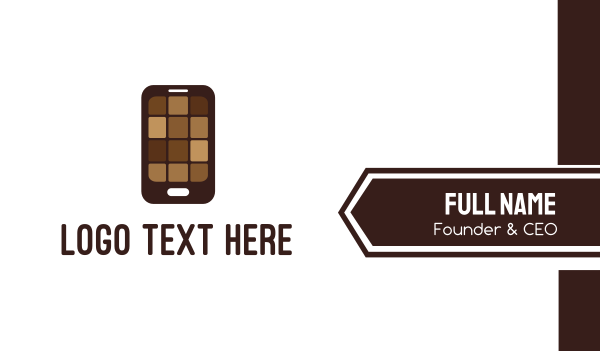 brownie - Chocolate Phone Business card horizontal design