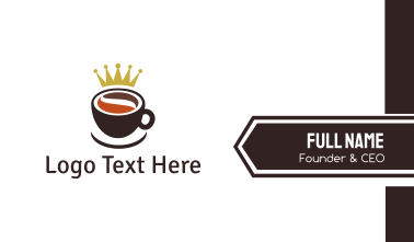 Royal Coffee Cup Business Card