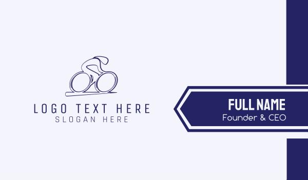 cyclist - Minimalist Cyclist  Business card horizontal design