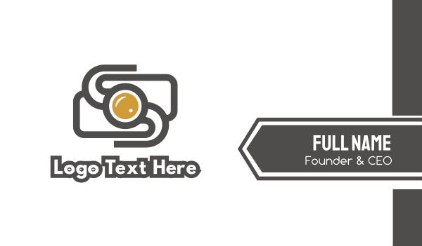 photo journalist - Camera S Outline Business card horizontal design