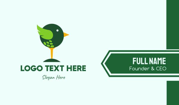 golf tournament - Cute Golf Bird Business card horizontal design
