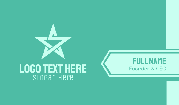 cool - Star Letter S Business card horizontal design