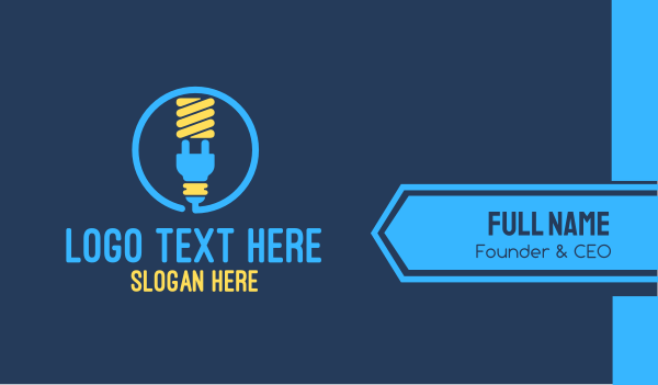 fluorescent - Lightbulb Plug Business card horizontal design