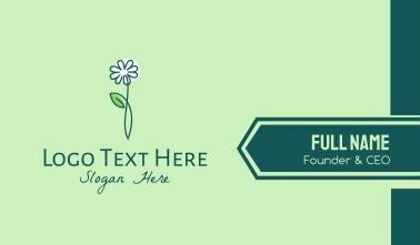 Minimalist White Flower Business Card