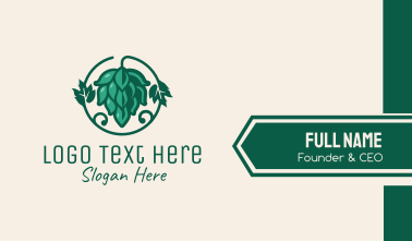 Green Hop Plant Beer  Business Card